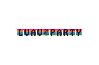 Creative Converting Aloha Summer Luau Party Jointed Banner (Multicoloured)