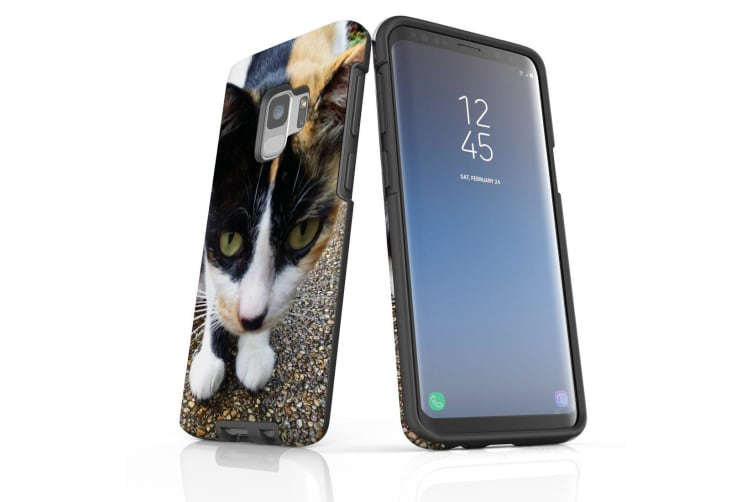 For Samsung Galaxy S9 Case Armour Cover  Curious Cat