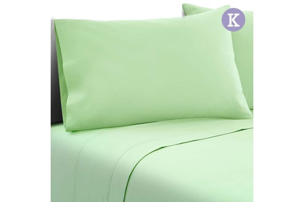 4 Piece Microfibre Sheet Set (King/Green)