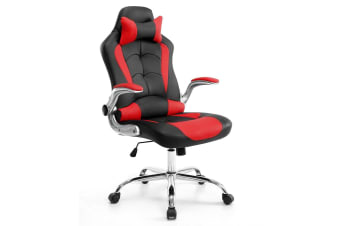 Red Home Office Gaming Chair with Adjustable Tilt