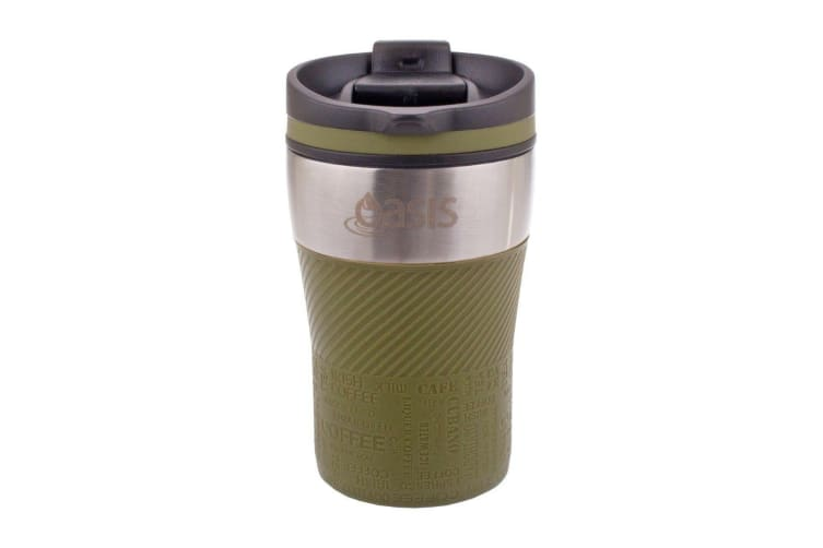 Oasis Stainless Steel Double Wall Eco Cup Coffee Tea Reusable Thermal Green