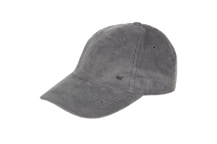 Regatta Mens Cadell Adjustable Corduroy Baseball Cap (Seal Grey) (One Size)