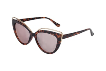 Aspect Fashion Cat Eye Sunglasses - Tortoise/Gold Mirror