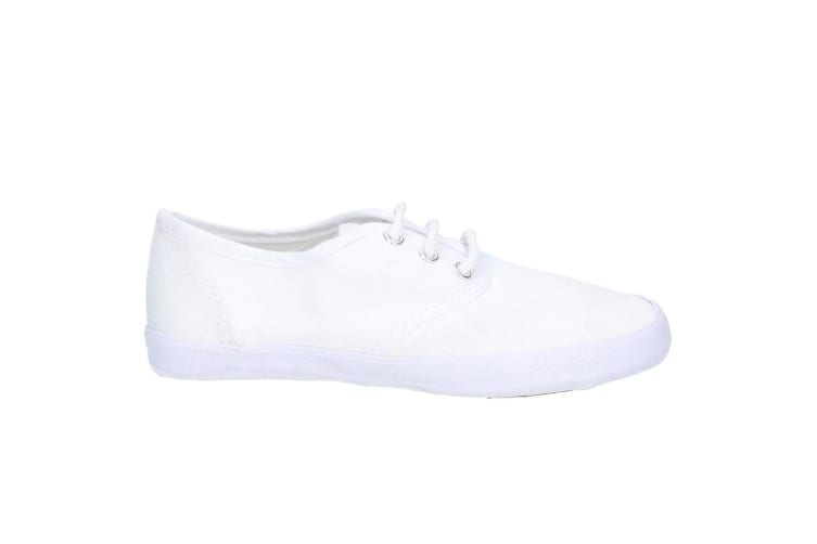 Mirak 204/ASG14 Unisex Childrens Lace-Up Plimsolls / Boys/Girls Gym Trainers (White) (9 UK Toddler)