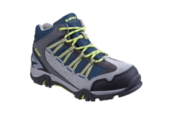 Hi-Tec Childrens/Kids Forza Mid Waterproof Hiking Shoes (Cool Grey/Majolica/Limoncello)