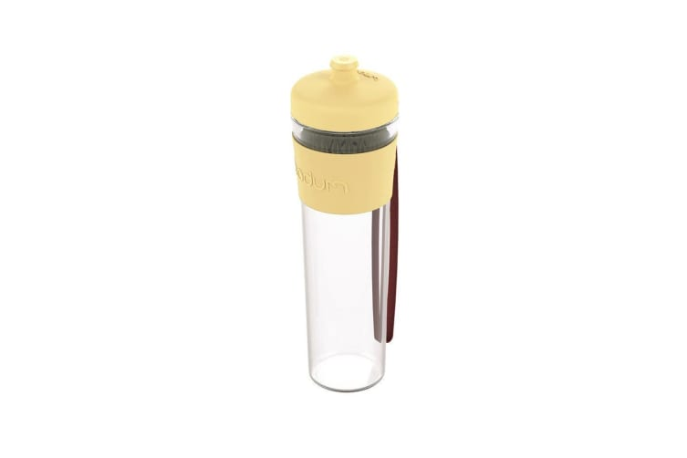 Bodum Bistro Single Wall Drink Bottle with Strap 500ml Pastel Yellow