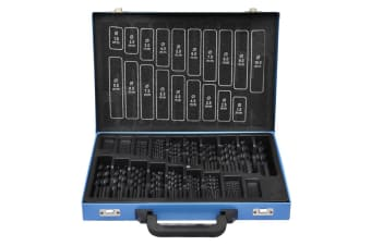 vidaXL 170-Piece Drill Bit Set in Metal Box HSS-R