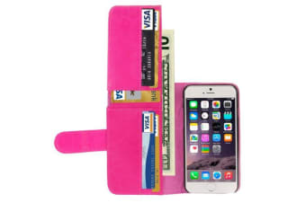 For iPhone 6S PLUS 6 PLUS Case  Horse Leather Shielding Cover Magenta