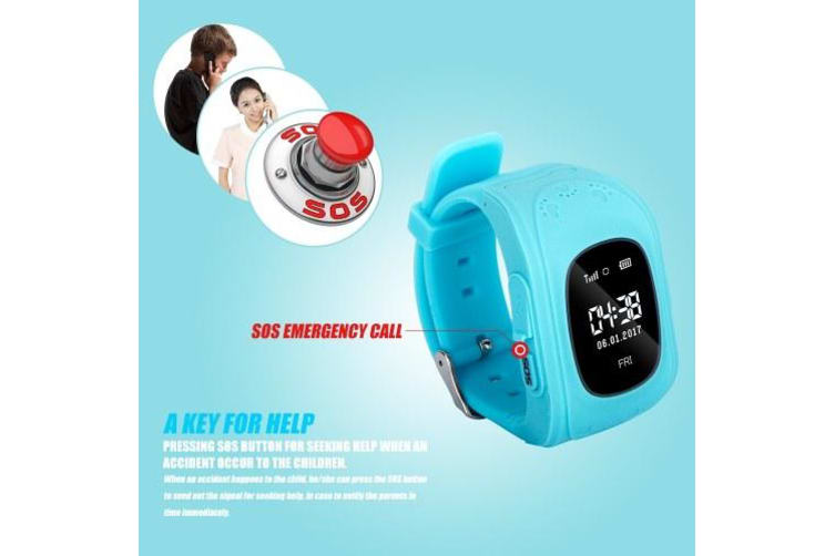 0.96inch OLED Screen Kids Smart Watch Phone for Girls Boys with SIM Card Slot Suitable for iOS Android Smartphones-Blue
