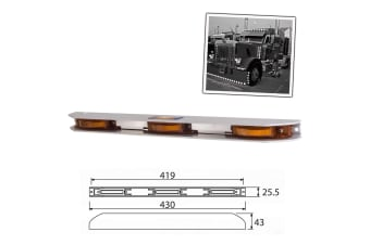 AP AUTO LED CLEARANCE LIGHT SIDE MARKER LAMP AMBER TRAILER TRUCK TANK 12V NEW