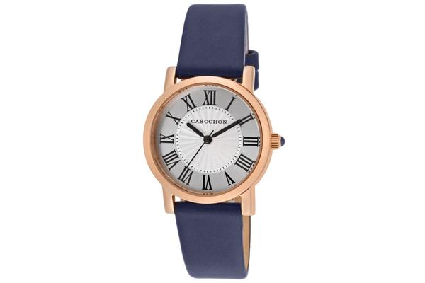 Cabochon Women's Dame Chic Silver Dial Blue Genuine Leather (CABOCHON-403S-03)