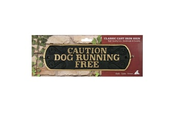 Best Pets Caution Dog Running Free Cast Iron Sign (May Vary)