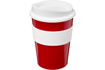 Americano Medio 300ml Tumbler With Grip (Red/White)