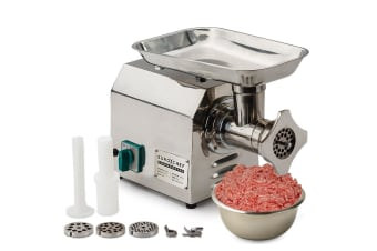 EuroChef 1.2HP Commercial Meat Mincer- Electric Grinder & Sausage Maker Filler