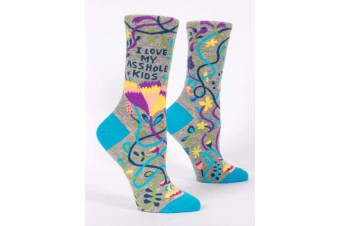 I Love My Asshole Kids Ladies Funny Novelty Crew Socks