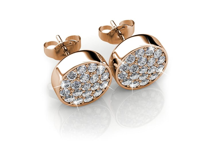 Pave Earrings Embellished with Swarovski crystals