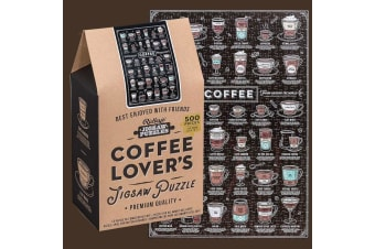 Coffee Lover`s 500pc Jigsaw Puzzle 35x50cm