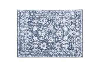 Artiss Short Pile Floor Rug 200x290 Area Rugs Large Vintage Carpet Soft Blue