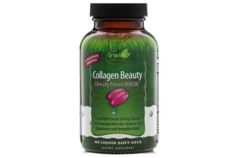 Irwin Naturals Collagen Beauty Clinically Proven Verisol - 80 Liquid Soft-Gels