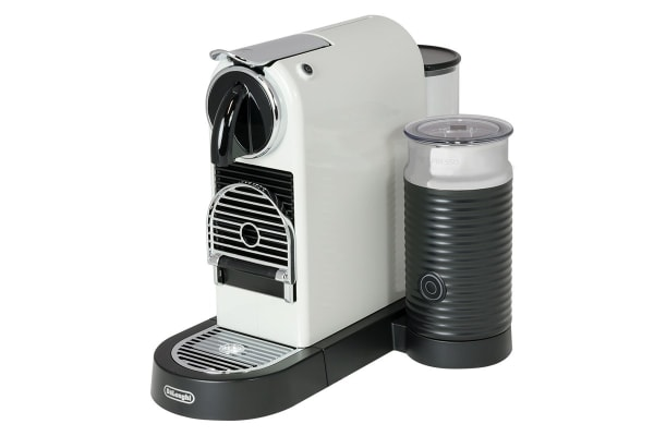 DeLonghi Nespresso Citiz & Milk Frother Coffee Capsule Machine - White (EN267WAE)