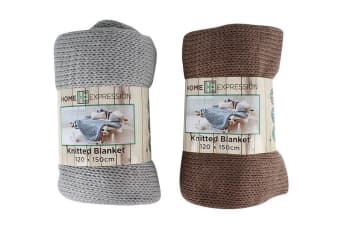 Acrylic Jacquard Knitted Blanket