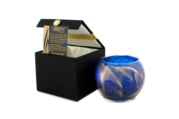 Northern Lights Candles Esque Polished Globe Candle - Cobalt (4 inch)
