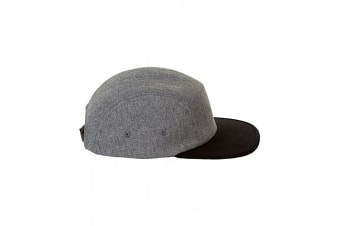 SOLS Unisex Ramsey 5 Panel Cap (Charcoal Marl/Black) (One Size)