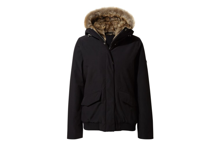 Craghoppers Womens/Ladies Lucerne Faux Fur Bomber Jacket (Black) (12 UK)