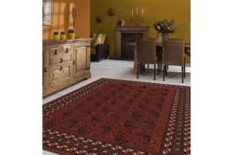 Traditional Red and Black Rug