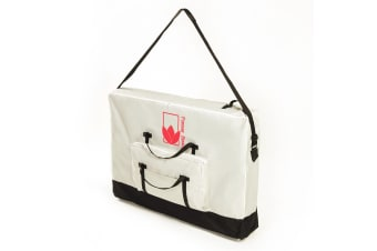 75cm Delux Wheeled Massage Table Carry Bag - WHITE