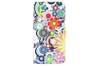 For iPhone 8 PLUS 7 PLUS Wallet Case Magical Fireworks Protective Leather Cover