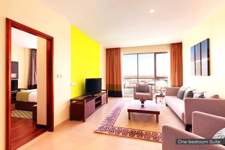 DUBAI: 1 Night Stopover Accommodation Package at Ramada Downtown for Two (High Season)
