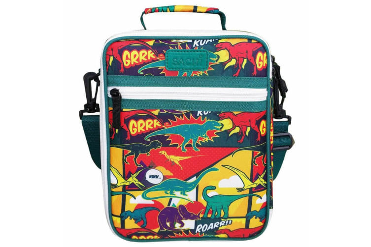 2PK Sachi Thermal Insulated Junior Picnic Lunchbox Tote Carry Case Bag Dinosaurs