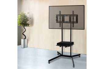 Mobile TV Stand Mount Bracket 32 to 65 inch Trolley Wheels Universal