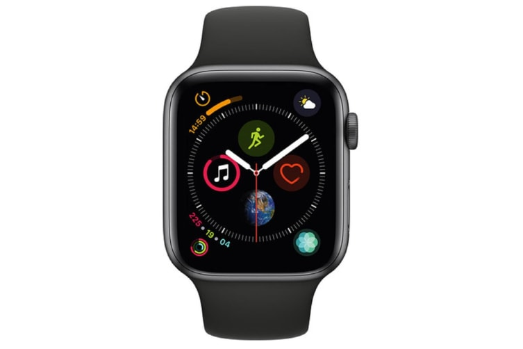 Apple Watch Series 4 44mm GPS Space Grey Aluminium Case with Black Sport Band