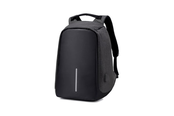 Milano Anti Theft Backpack with USB Port (Black)