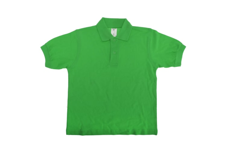 B&C Kids/Childrens Unisex Safran Polo Shirt (Pack of 2) (Real Green) (5-6)