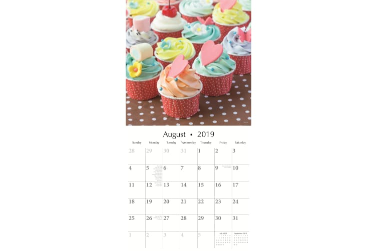 Cupcakes - 2019 Premium Square Wall Calendar 16 Months New Year Xmas Decor Gift