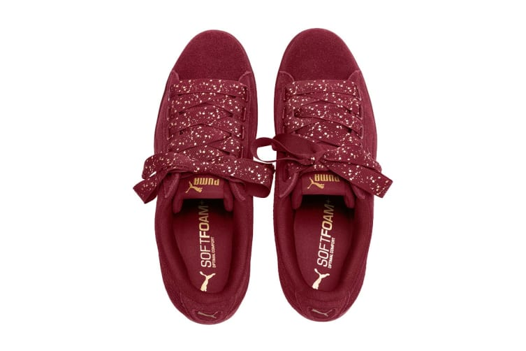 PUMA Women's Vikky Ribbon Dots Shoe (Pomegranate, Size 6.5)