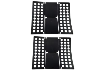 2x Magic Garment/Clothes T-Shirt/Blouses Folder/Folding Board Template - Black