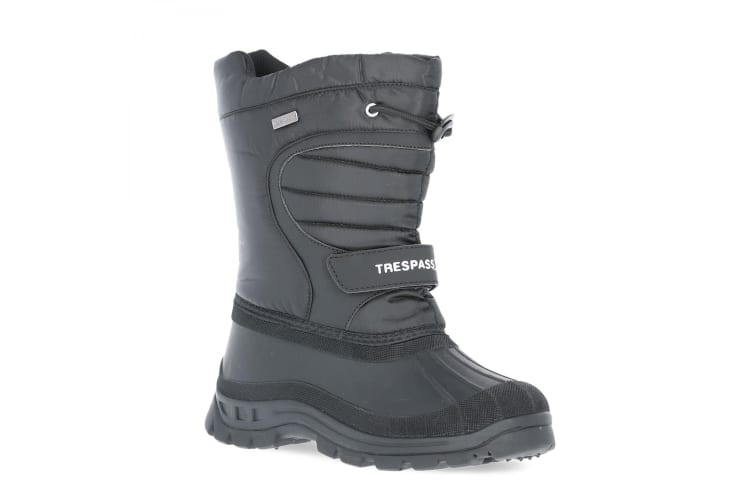Trespass Kids Unisex Dodo Water Resistant Snow Boots (Black) (13 Child UK)