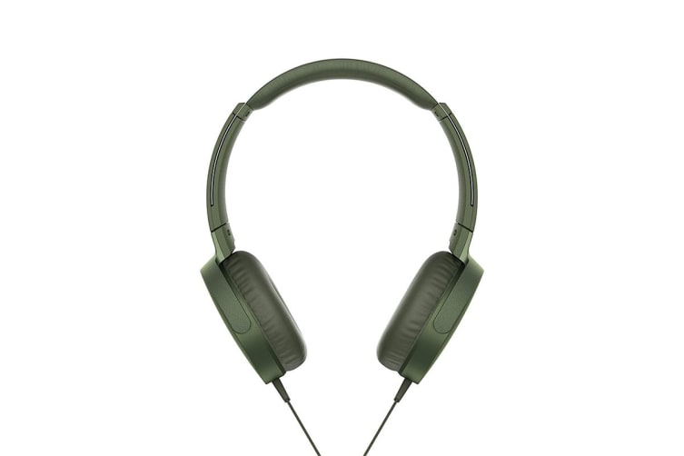 Sony Extra Bass Headphones - Green (MDRXB550APG)