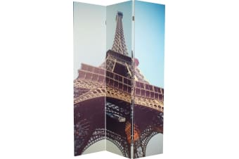3 Panel Room Divider | Printed | Eiffel Tower