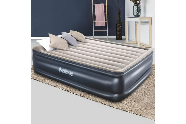 Bestway Queen Air Bed 56cm Inflatable Mattress Electric Built-in