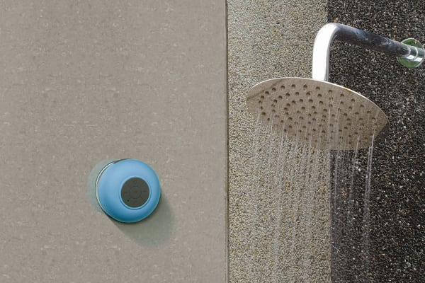 Kogan Water Resistant Bluetooth Shower Speaker (Blue)