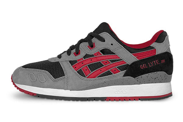 ASICS Tiger Men's Gel-Lyte III Running Shoe (Black/Fiery Red, Size 10)