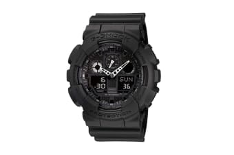 Casio G-Shock Analog Digital Watch with Shock/Water Resistance, Anti-Magnetism & Resin Band - Black (GA100CF-1A)
