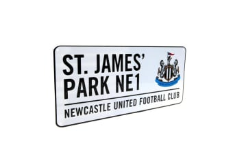 Newcastle United FC Official Street Sign (White)