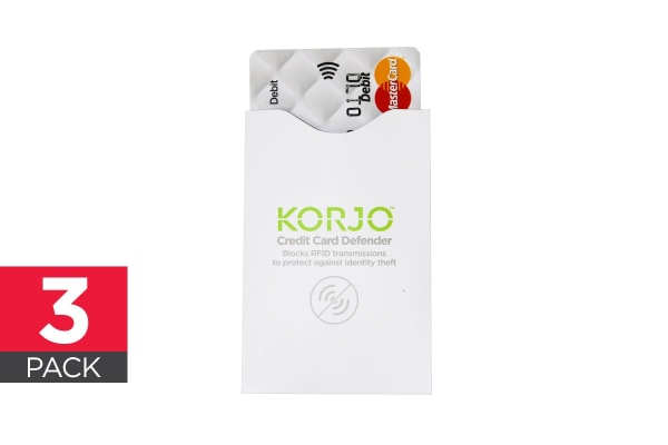 Korjo 3 Pack RFID Credit Card Defender
