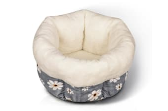 Select Mall Cute Winter Deep Sleep Cat Litter Colorful Pet Supplies Warm Nest Washable Dog Bed-5 - Size S